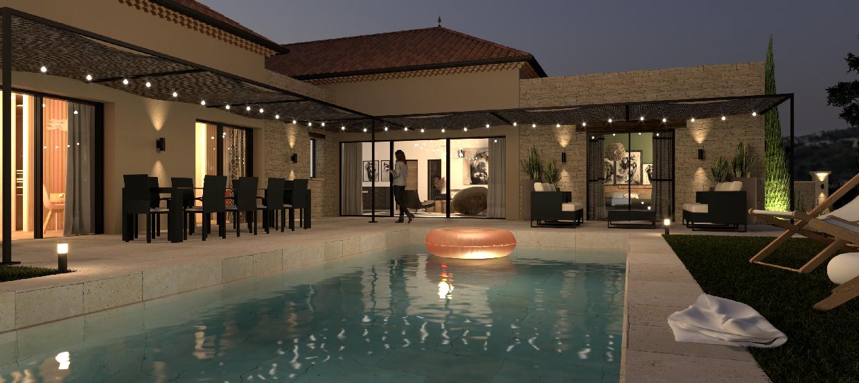 Architecte intérieur villa Gard