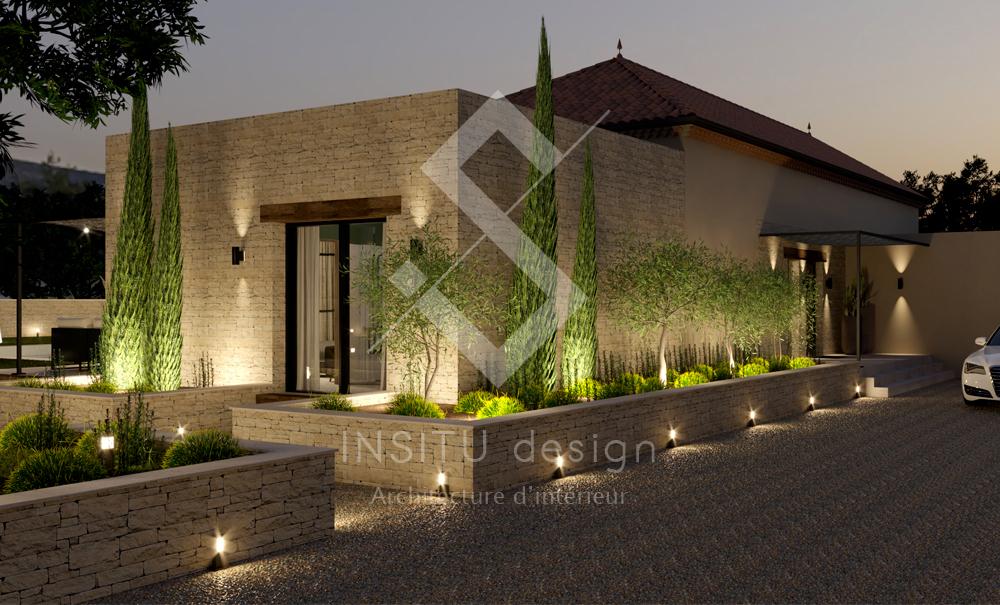 Plan 3D photorealiste Gard
